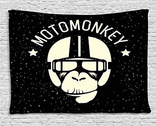 Astronaut Kostüm Alien - Soefipok Weltraum-Tapisserie, Zeichen Alien Monkey mit Astronauten-Kostüm in Einer Galaxie mit Sternen Poster, Wandbehang für Schlafzimmer Wohnzimmer Schlafsaal
