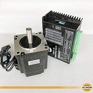 ACT MOTOR GmbH 1PC Nema34 Step-Servo Motor 34SSM8460-EC1000 6A 5Nm Closed-Loop+1PC HBS86H Closed Loop Stepper Driver CNC