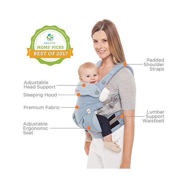 Ergobaby 4 Position 360 Baby Carrier, Azure Ergobaby Four ergonomic positions Maximum comfort for parent Comfort & proper ergonomics for baby 6