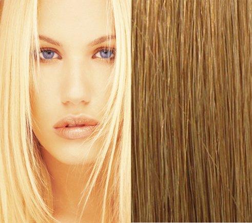 55,9 cm (# 12 Brun clair doré) Clip en cheveux Remy naturels Extensions-10 pièce Set-luxury complète Head-clip Attached-120g Poids Idéal de la Structure et du volume pour complète Head-grade AAA