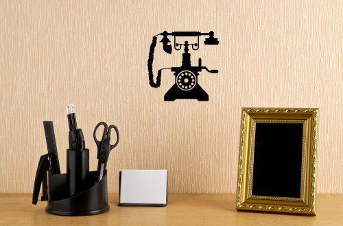 Vintage Phone Wall Decal Stickers Decor Graphics by The Custom Vinyl Shop -