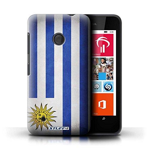 Kobalt® Imprimé Etui / Coque pour Nokia Lumia 530 / Suède/suèdois conception / Série Drapeau Uruguay/Uruguayen