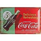 Nostalgic-Art 24005 Coca-Cola - Delicious Refreshing Green, Blechschild 40x60 cm