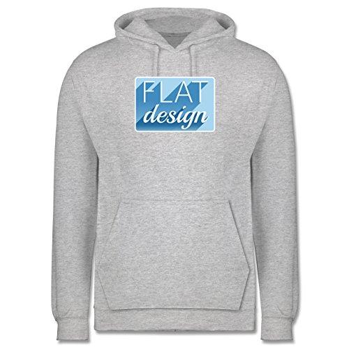 Nerds & Geeks - Flat design - Männer Premium Kapuzenpullover / Hoodie Grau Meliert