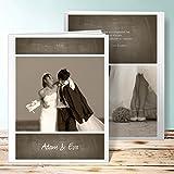Fotoalbum Hochzeit Personalisiert, Getäfelt 28 Seiten, 14 Blatt, Hardcover 234x296 mm personalisierbar, Braun