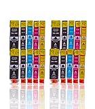Tintenpatronen Kompatibel zu Canon PGI5 , PGI 5 , CLI8 , CLI 8 mit Chip Canon Pixma IP3300 IP3500 IP6700D MX700 MP970 IX4000 PRO9000 (20 Stück) (BK,C,M,Y)