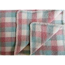 52cdea9423e2 Alpenwolle Couverture en Laine Plaid Couvre-lit Couverture de Canapé Grande  Taille, 135 x