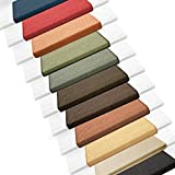 Sisal Stufenmatten im 15er Set | 100 % Naturfaser in 2 Größen | sicherer Halt auf Ihrer Treppe | rechteckig 65x24 cm mit Lippe - dunkelbraun