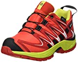 Salomon Kinder XA Pro 3D CSWP Trailrunning/Outdoor-Schuhe, Rot (Fiery Red/Sulphur Spring/Black), Gr. 33