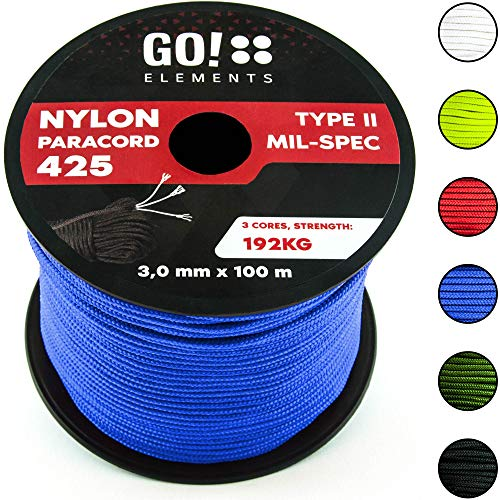 GO!elements 100m Cuerda Paracord Nylon Resistente
