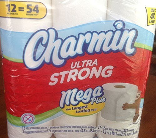 Charmin Ultra Strong Mega Plus 12 Rolls Bathroom Tissue by Charmin