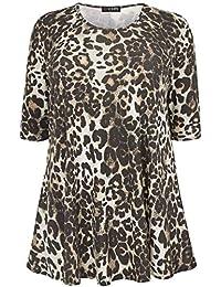 25d28eddbd4bd Yours Clothing Women s Plus Size Leopard Print Swing Top