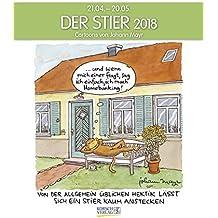 Stier 2018: Sternzeichen-Cartoonkalender