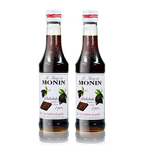 2x Monin Schokoladen Sirup, 250 ml Flasche - für Cocktails, zum Kaffee oder Kochen