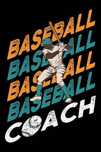 Distressed-design Baseball (Baseball Baseball Baseball Baseball Coach: A Baseball Coach Composition Notebook)