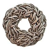 COURONNE Naturkranz Deko-Kranz groß Ø 35cm in grau, gefertigt aus Baumrinde. Türkranz zum hängen oder als Tischdekoration im Shabby chic Design, Zeitloses Wohnaccessoires als Natur-Deco von Glaskönig