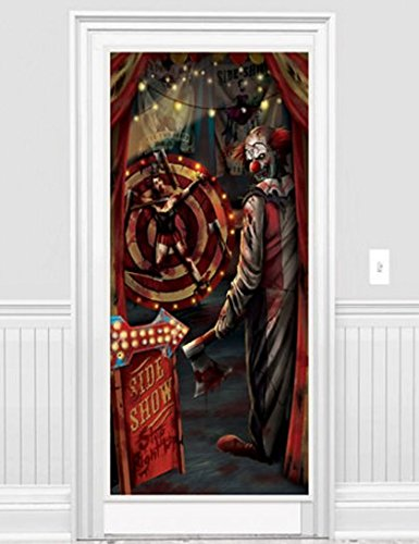 Affiche Porte d'Halloween - Tueur Clown 1.65m x 85cm