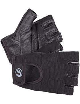 Ultrasport Grip - Guantes de fitness y training unisex, color negro, talla M