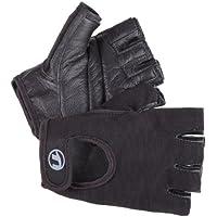 Ultrasport Guantes de fitness y guantes de entrenamiento Grip para hombres y mujeres / guantes deportivos para practicar deportes de fuerza, ciclismo y fitness, protegen las manos y ofrecen un agarre optimizado, Negro, M