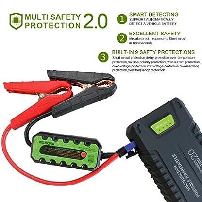 51h1lsZgcVL. SS416  - Dr.Auto - Arrancador de Coches 1000A, 20000mAh, Jump Starter Portatil 12V Baterías Soporte Vehículo de Gasolina