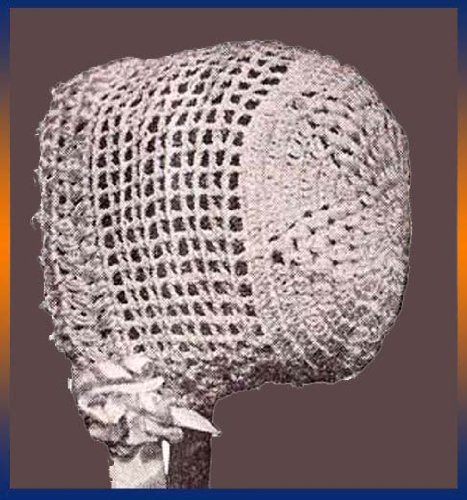 Crochet Baby Bonnet Cap Hat of Heavy Silk for Infants or any desired size (English Edition) (Silk Häkeln)