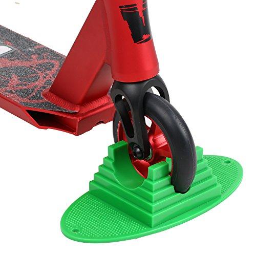 Vokul Universal Scooter Stand für Razor, Madd Gear, Lucky, Phoenix, Bezirk, Mehr Adult Kick Stunt Scooter (Grün)