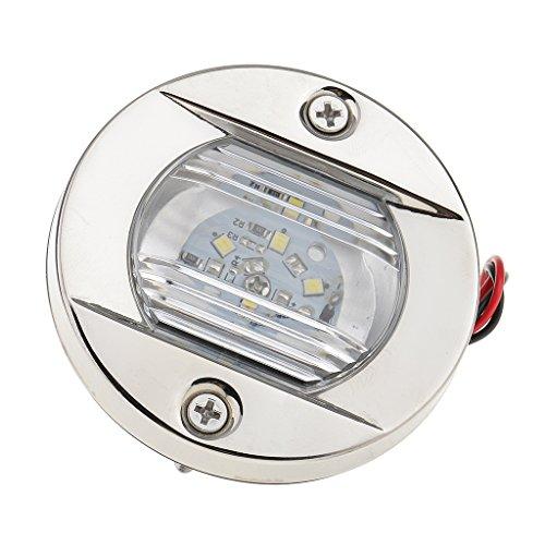 Sharplace Luz de Popa Cola Terasera Navegación LED para Barco Accesorios para Automóvil Prueba de Salpicadura Acero Inoxidable Impermeable Universal