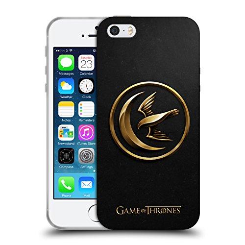 Offizielle HBO Game Of Thrones Gold Targaryen Sigils Soft Gel Hülle für Apple iPhone 6 / 6s Gold Arryn