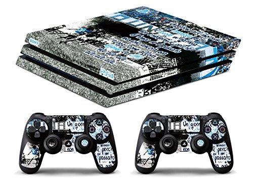 Skin Ps4 PRO - NAPOLI CORO - limited edition DECAL COVER ADESIVA Playstation 4 Slim SONY BUNDLE - VINILE LUCIDO