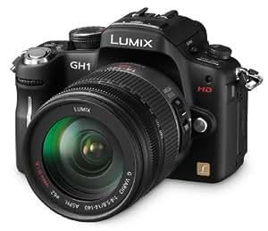 Panasonic Lumix DMC-GH1KEG9K Systemkamera (12 Megapixel, 7,6 cm Display, LiveView, Full-HD) schwarz mit 14-140 mm Objektiv schwarz