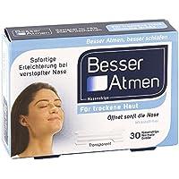 Besser Atmen Nasenstrips Trockene Haut Normale Größe Nasenpflaster, 30 St. preisvergleich bei billige-tabletten.eu