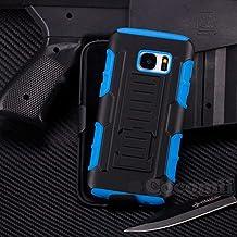 Galaxy S6 Schutzhülle, Cocomii® [HEAVY DUTY] Galaxy S6 Robot Case **NEUE** [ULTRA ZUKUNFT RÜSTUNG] Premium Gürtelclip-halfter Ständer Hülle [MILITARY DEFENDER] Voller Körper Robuste Dual Layer Hybrid Schutzabdeckung Cover Bumper Case [COCOMII GARANTIE] ::: Der Ultimative Schutz Vor Stürzen Und Auswirkungen Für Ihr Samsung Galaxy S6 G920 ::: ★★★★★ (Black/Blue)
