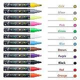 Kreidemarker mit 48 Tafelaufkleber, 12 Farben Flüssige Kreide Abwischbar Whiteboard Marker mit Reversible Rundspitze 6mm für Glas Kreidetafel Handwerk hergestellt von Eaiitty