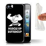 Stuff4® Gel TPU Hülle/Case für Apple iPhone SE/Muscle up Buttercup Muster/Karikatur Polynesische Prinzessin Kollektion