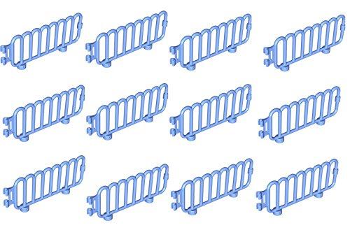 Preisvergleich Produktbild Lego Duplo 12x Zaun / Gatter hellblau aus Set großer Stadtzoo 6157