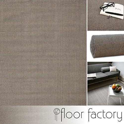 Moderner Designer Wollteppich Loft Earth grau/braun 140x200cm - reine Wolle in leuchtenden modernen Farben