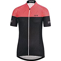 Gore Bike Wear 100176 Maillot, Mujer, Negro/Coral (Coral Glow), 42