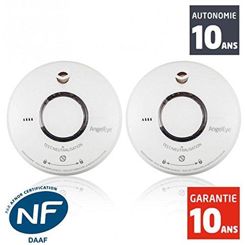 2 Rauchmelder Angeleye ELEGANCE EXPERT DUO ST 620 - Batterielebensdauer 10 Jahre - 10 Jahre Garantie