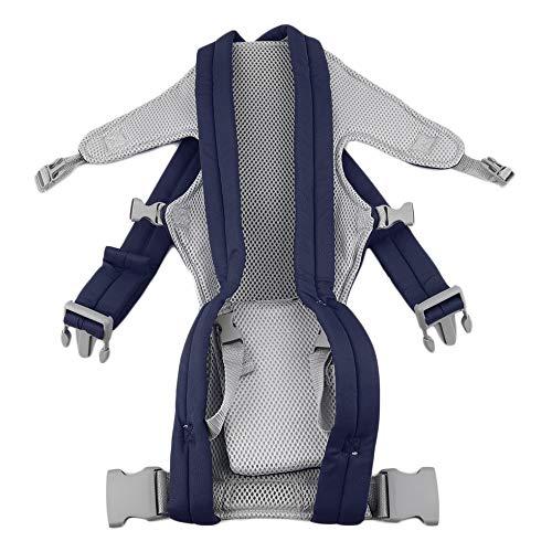 Sen-Sen Säugling Babytrage Neugeborene Wiege Kinderschlinge Wickeltasche Tasche Vorne Hinten Reiter Tiefblau