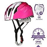 OUTERDO Kinder Fahrradhelm -Einstellbar von Kleinkind zu Jugend Größe geeignet für den Alter von 3-14 CSPC und CE zertifiziert für Bequemlichkeit und Sicherheit für Roller Skateboard u. Fahrrad