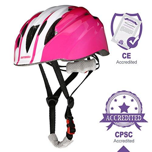 OUTERDO Kinder Fahrradhelm -Einstellbar von Kleinkind zu Jugend Größe geeignet für den Alter von 3-14 CSPC und CE zertifiziert für Bequemlichkeit und Sicherheit für Roller Skateboard u. Fahrrad (Jugend-multi-sport-helm)