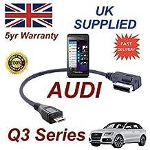 AUDI Q3 Series 2012+ AMI MMI Cable Para Blackberry Z10 4F0051510M Cable MICRO-USB