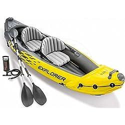 Kayak Explorer K2 Canoë gonflable 2 places en PVC avec accessoires