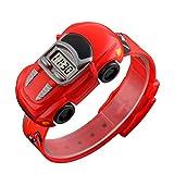 Kinder Student Armbanduhr Auto Kinder Uhren Jungen Mädchen Uhr Kind Digital Armbanduhr Elektronische Armbanduhr für junge Mädchen, rot