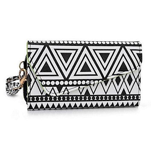 Kroo Pochette/étui style tribal urbain pour Yezz ANDY A5QP/5ei Multicolore - Noir/blanc Multicolore - Noir/blanc