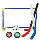 Mini Ice hockey Goal set calcio obiettivo e palla da Street hockey