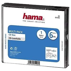 Hama Boîtier pour 6 CD Fond Noir 00051292