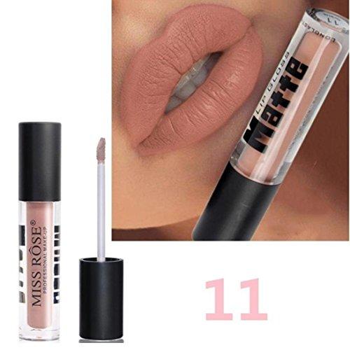 12 Colores Profesional Mate Pintalabios de Maquillaje Larga Duracion para Niñas...