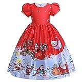 Eternali Neugeborene Kleinkind Baby Mädchen Weihnachten Kleid Weihnachtsmann Muster Festlich...