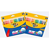 BIC - Rotuladores de colores con punta de fieltro de Bic Kids, color multicolor Bundle of 2x18